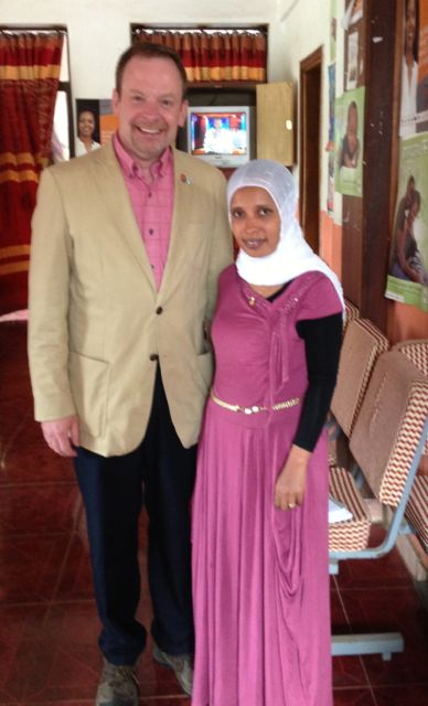 Tim Landers, RN, PhD, from Ohio State's College of Nursing and Nora Mohammed, MSc, from University of Gondar -- an infection prevention hero!