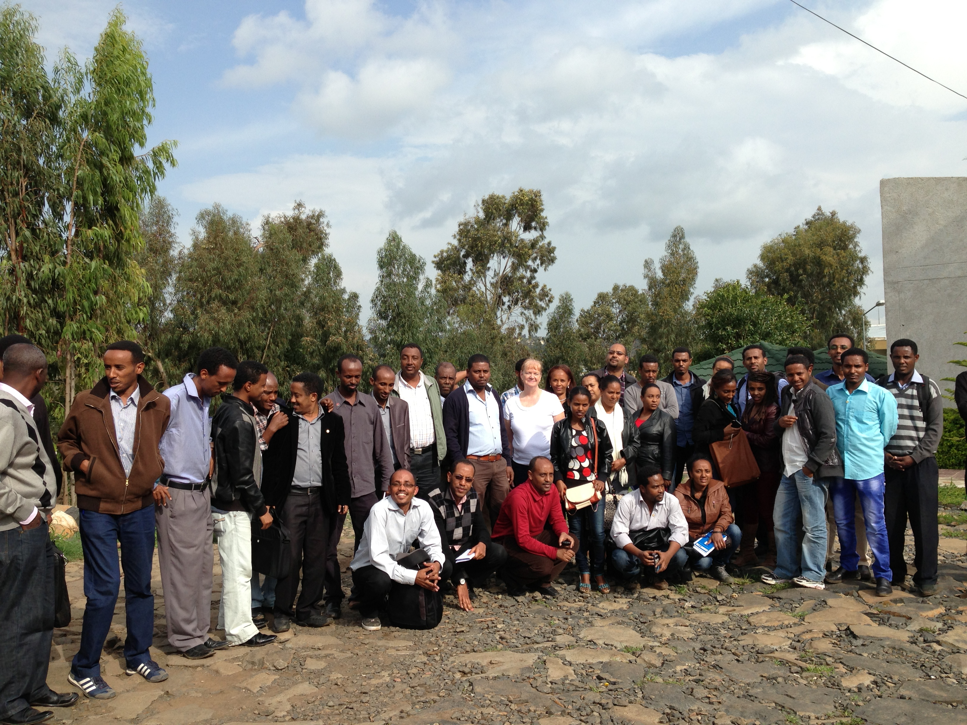 Dr. Karla Zadnik with the ethics course attendees at the University of Gondar