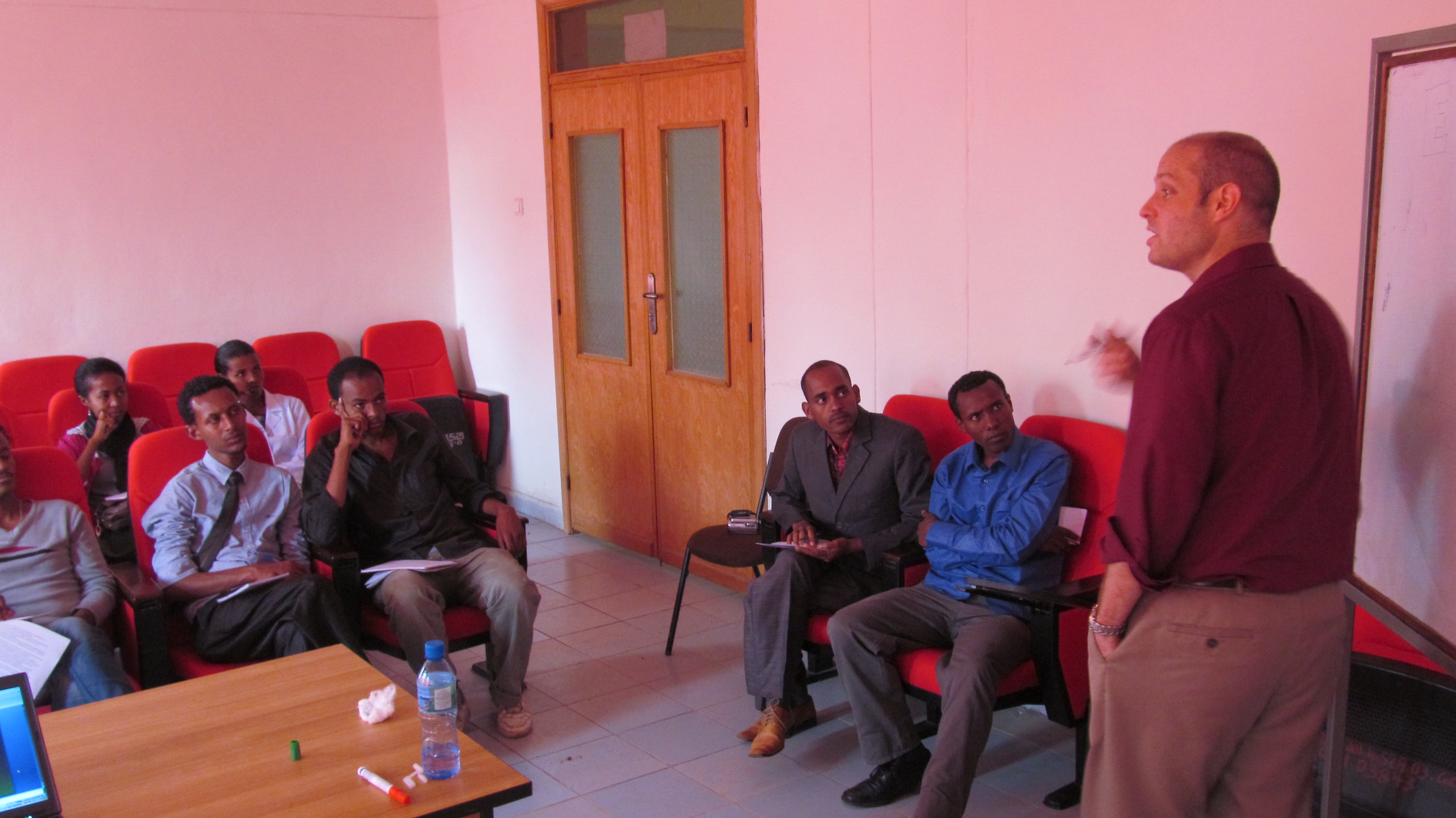 Dr. Dean inspiring Optometry faculty at the University of Gondar