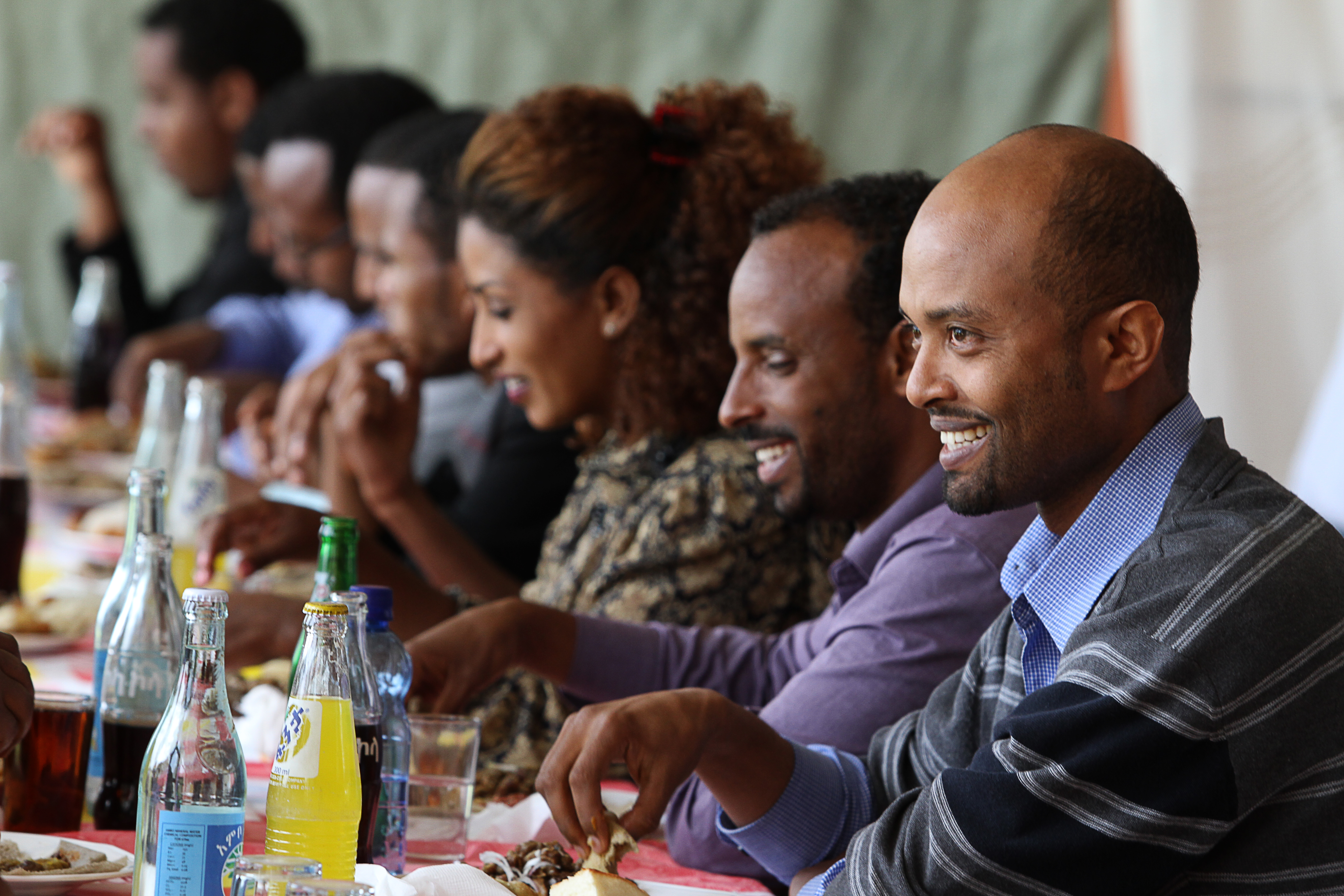 Lunch at Addis Ababa University.