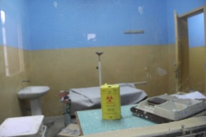 The chemotherapy mixing room at Gondar Hospital.