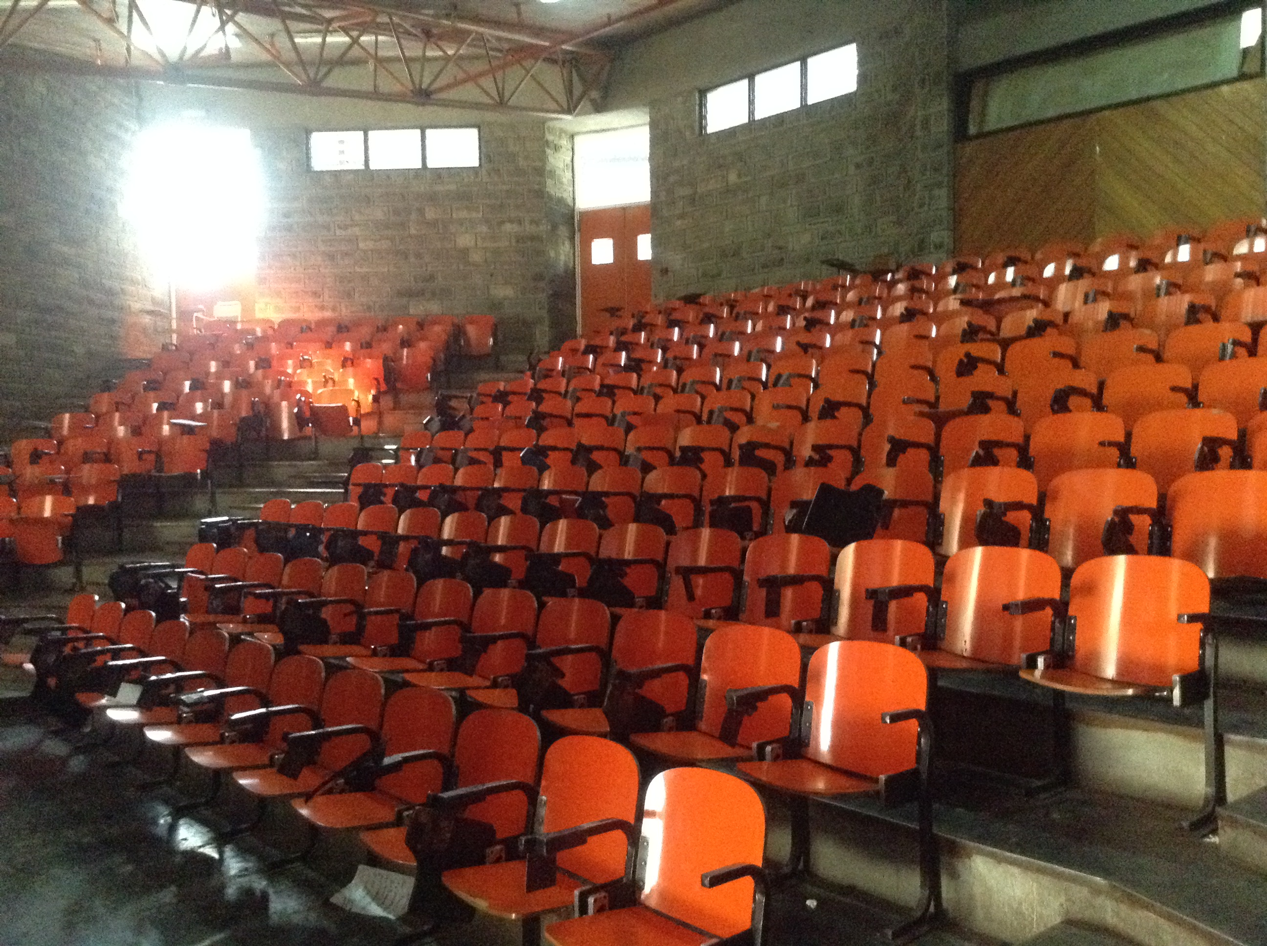 Classroom seating in Addis Ababa lecture hall
