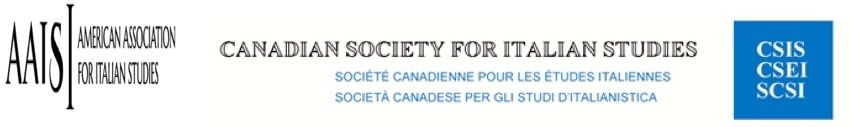 Logos of American Association for Italian Studies and Canadian Society for Italian Studies