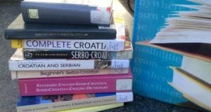 Stack of different books