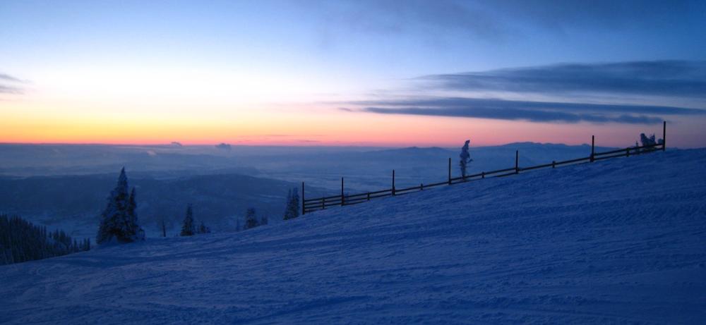 The Colorado Rockies: taken near Storm Peak Laboratory, 2010, at sunrise.