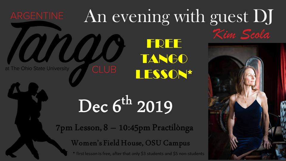 tango potluck december