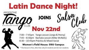 tango and salsa dance night