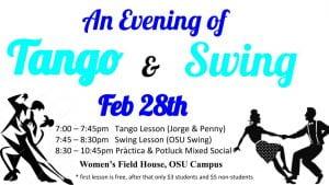 tango and swing dance night