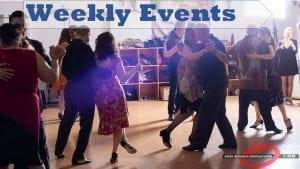 Weekly tango events
