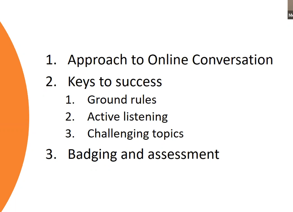 image of text about how to implement successful online conversations (also written in blog post)