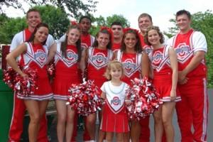 Brianna Turner with the OSU Cheerleaders