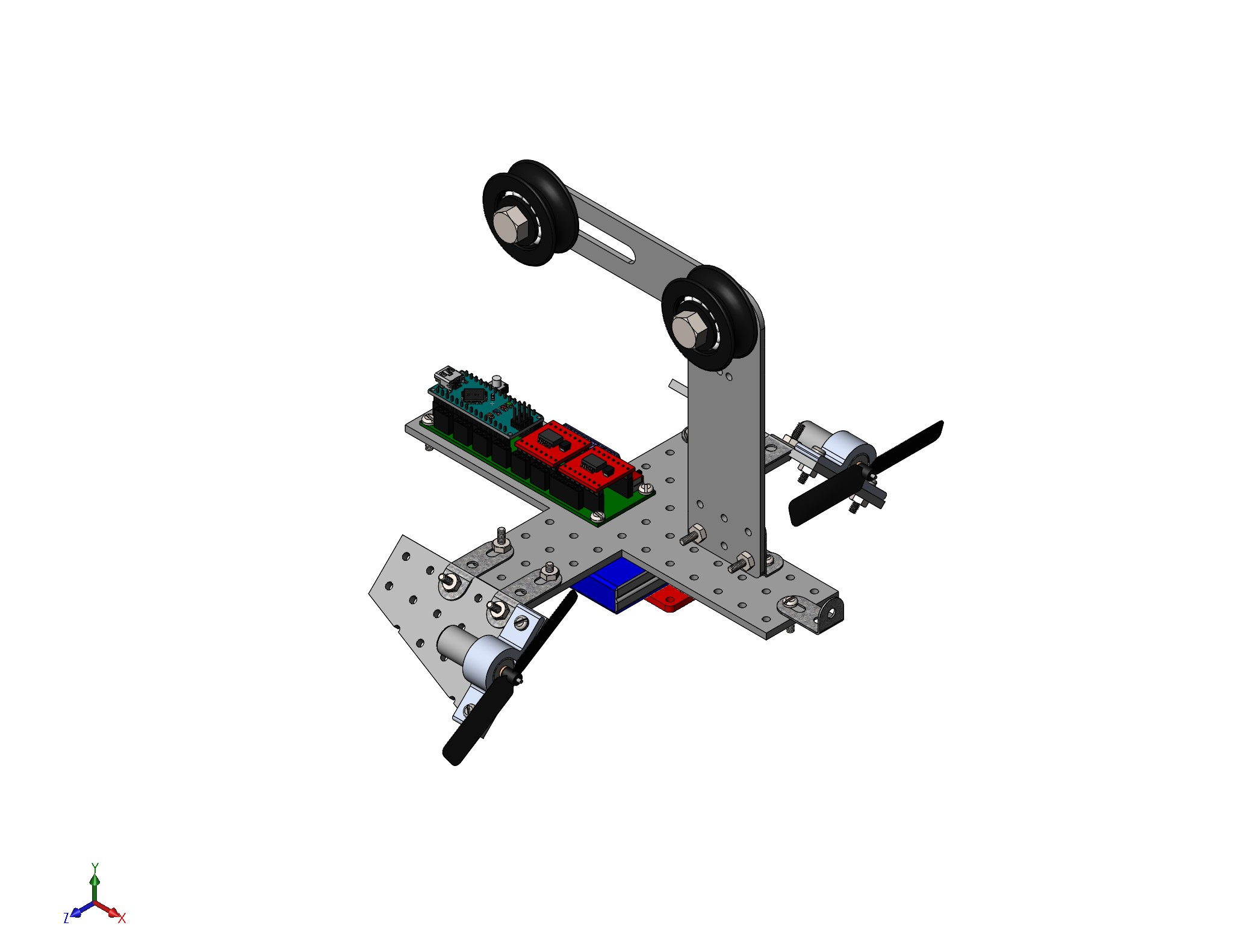 Team E Designs Engr 1182 Spring 2018 Pc Scott Worldwide Assembling The Arduino Battery Tester Circuit Assembly Above Is A Fully Defined Solidworks Of Aev Including Propellors Pack And Screws