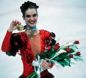 Katharina at the 1988 Olympics in Calgary