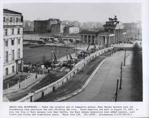 View of the Berlin Wall