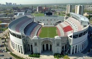 View of the Ohio Stadium from the north side.