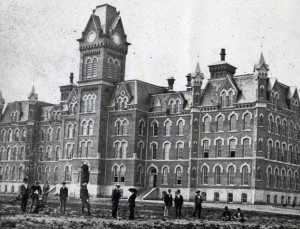The original University Hall in 1873