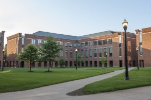 Exterior view of Schoenbaum Hall.