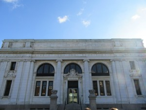 Picture 1: The west exterior (considered to be the front of the library).