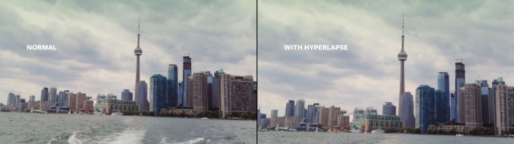 Hyperlapse framing comparison