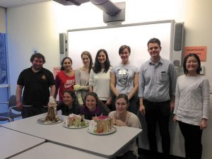 Lab gingerbread house competition (Fall 2014)