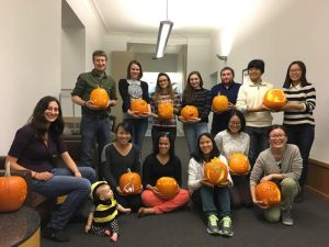 Golomb and Leber labs pumpkin carving party (Halloween 2016)