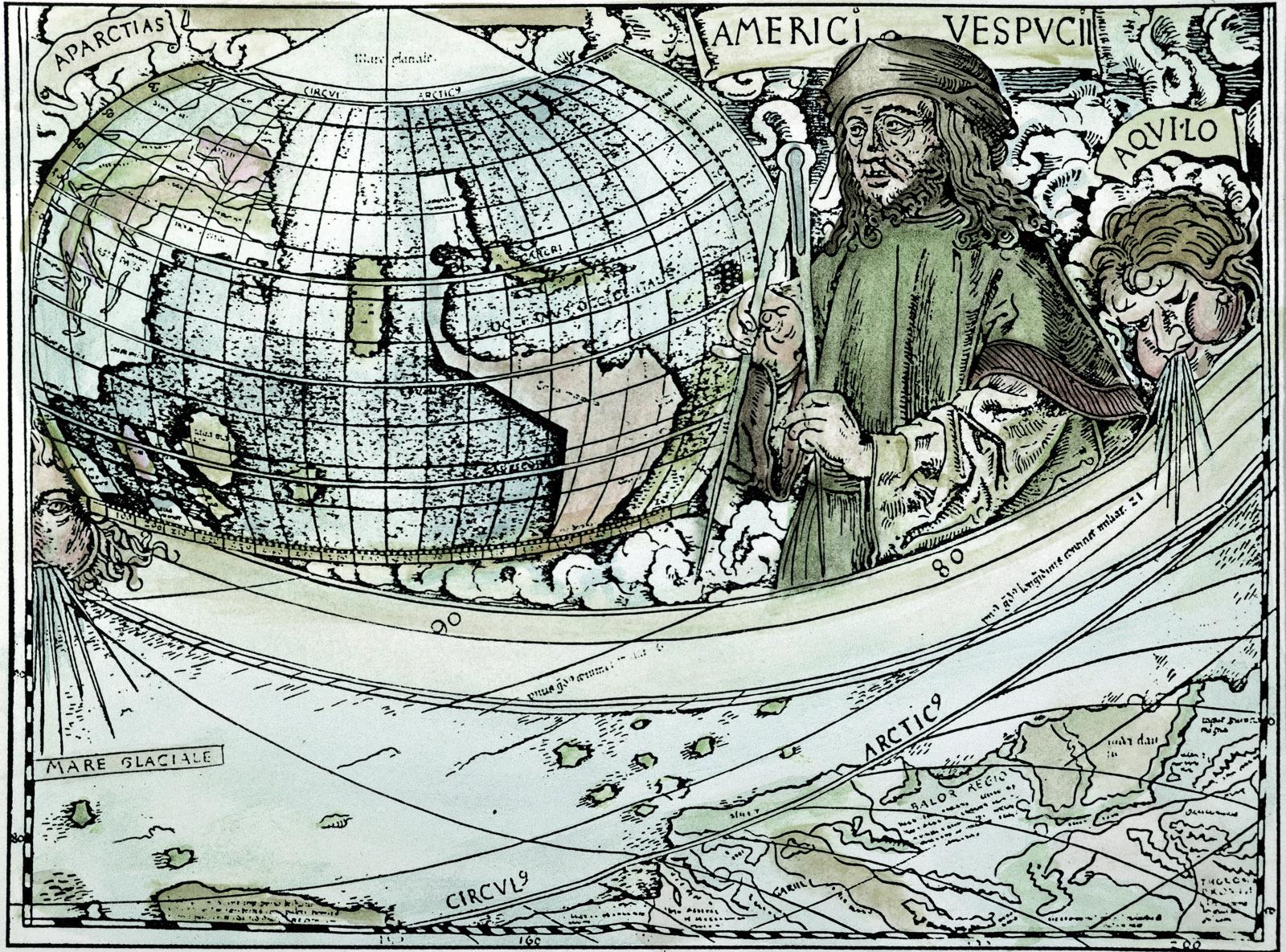 Amerigo Vespucci Map Of America.Amerigo Vespucci Christopher Vs Columbus