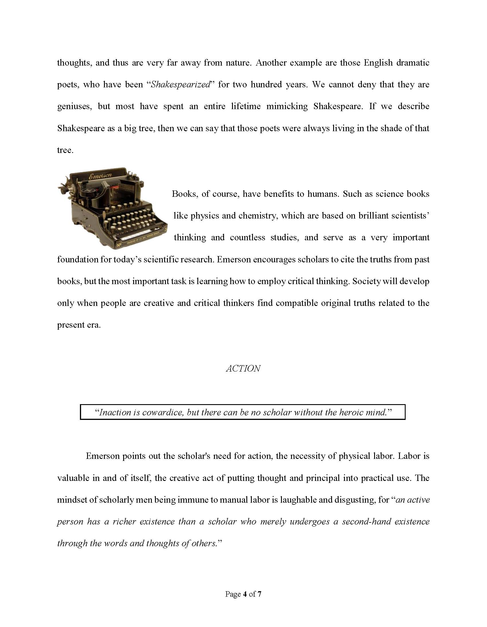 How to do a style mimking essay