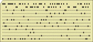 First punch card