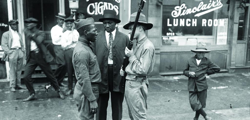 Red Summer - Man confronts an African-American soldier