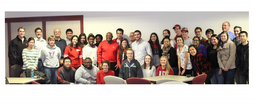 Archie Griffin with a STEP group after his presentation late last year
