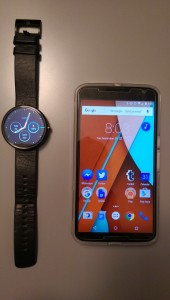Tools of the trade - the Moto 360 and the Nexus 6