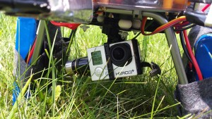 Picture of the GoPro Hero 3+ mounted on the Zenmuse 3D Gimbal