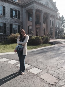 This is me in front of the George Eastman house! It was absolutely beautiful that day.