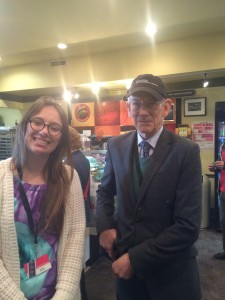 This is the picture that my mother took of me with film preservationist hero, Kevin Brownlow!