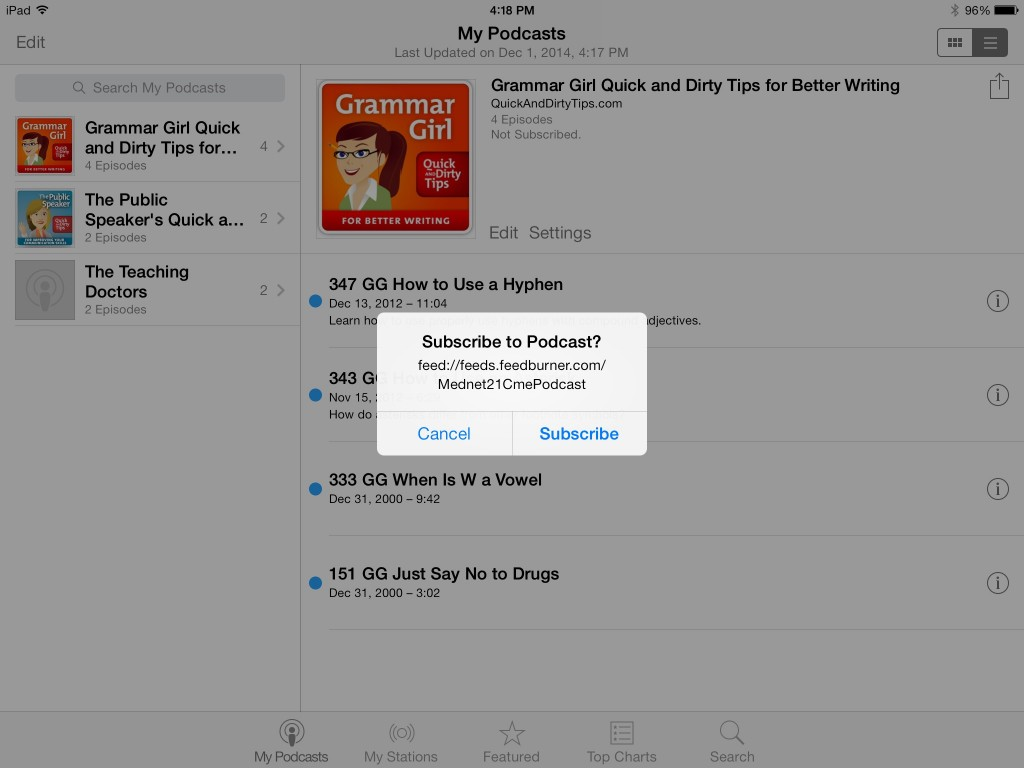 HowtoSubscribetoPodcastwithiPad_2