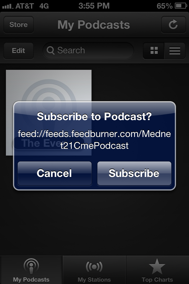 SubscribingtoPodcastUsingiPhone