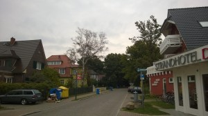 Typical German neighborhood by our hotel.