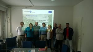 THe team learns more about research at the University of Rostock
