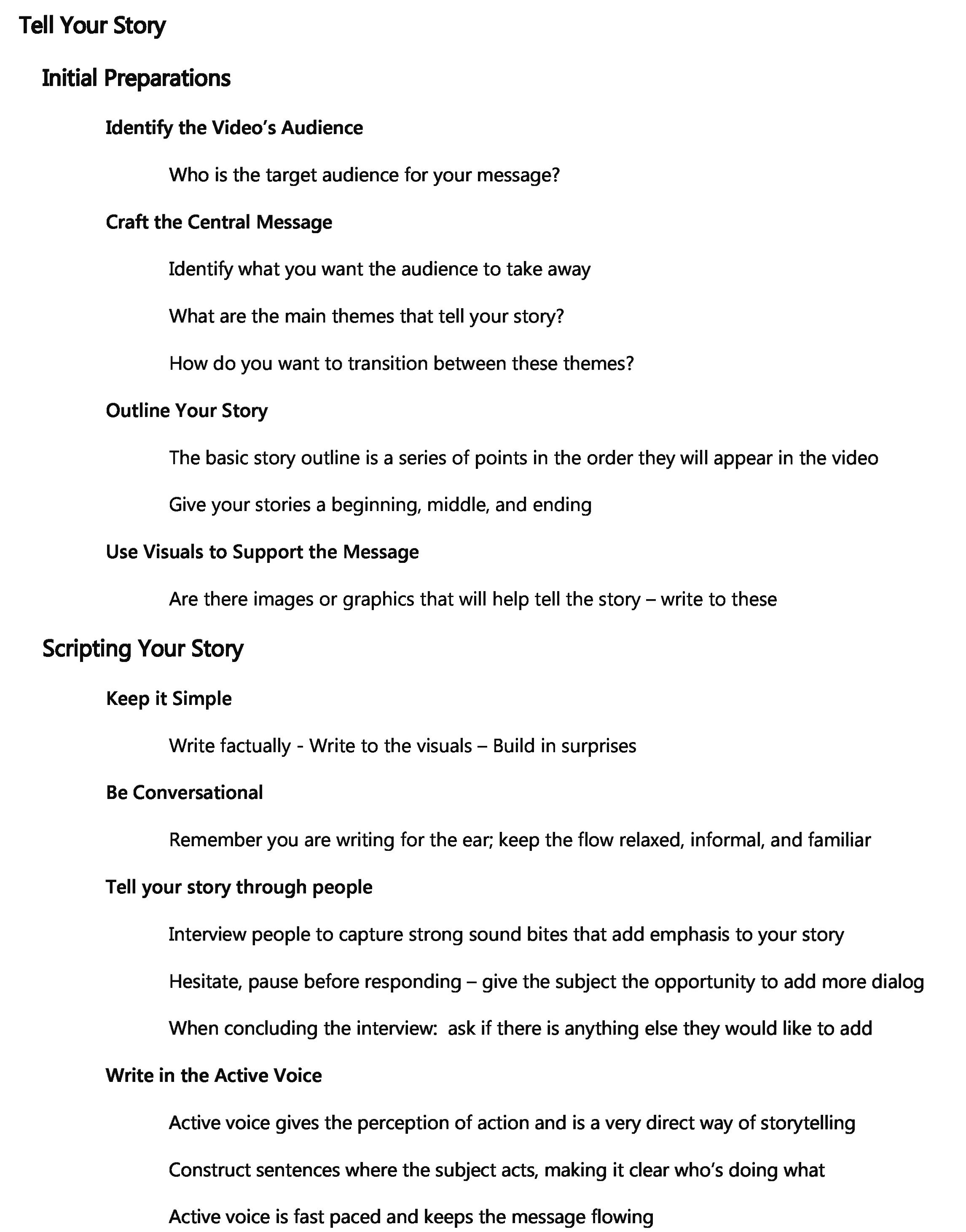 storytelling outline