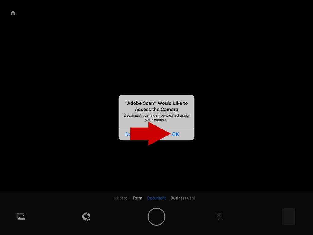 app permission screen