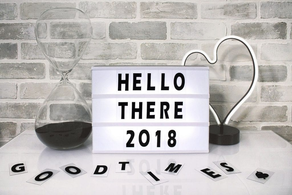 Sign reading Hello There 2018