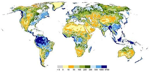 Map of Global Freshwater