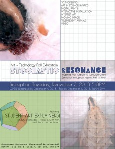 Stochastic Resonance exhibition poster