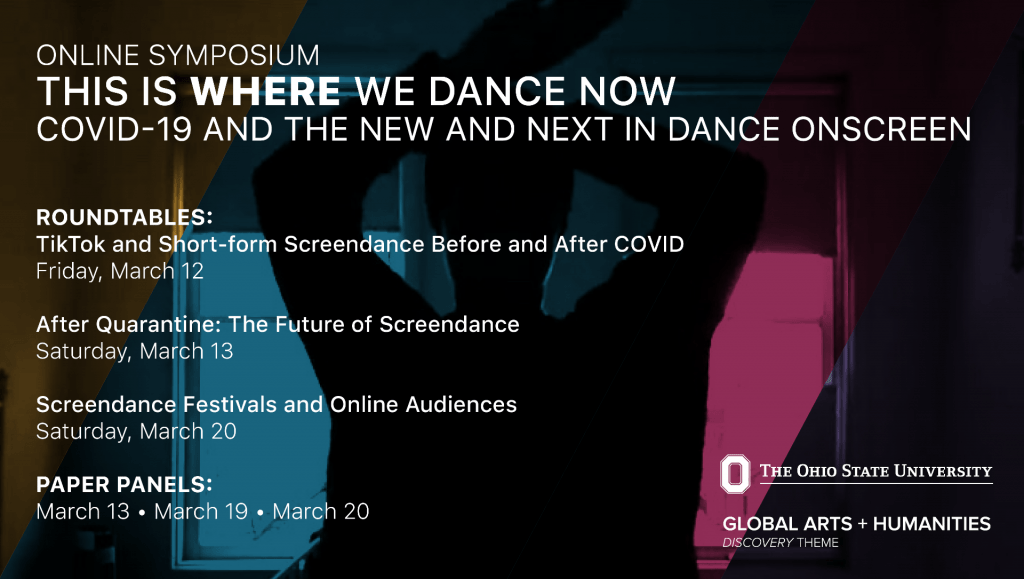 Image advertising This is Where We Dance Now online symposium.