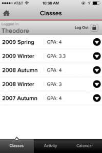 Grades on OSU Mobile