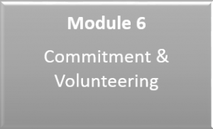 Link to Module 6: Commitment and Volunteering