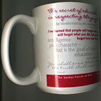 Left side of coffee mug