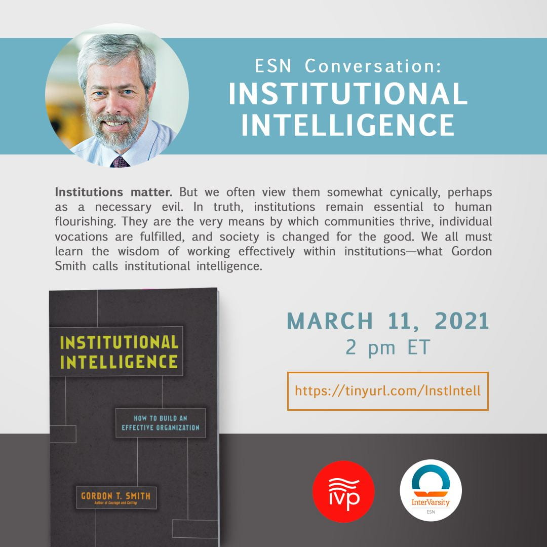 Flyers for ESN conversation on Institutional Intelligence