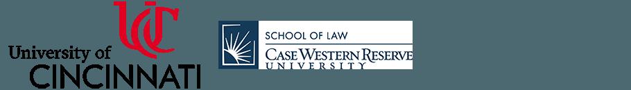 university of cincinnati, case western reserve logos