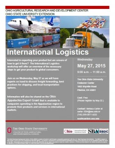 2015 5-27 International Logistics Workshop